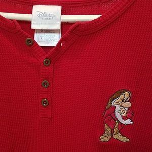 DISNEY Store MENS Grumpy Long Sleeve Shirt